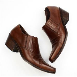 VTG GUESS Ankle Western Leather Cowboy Booties